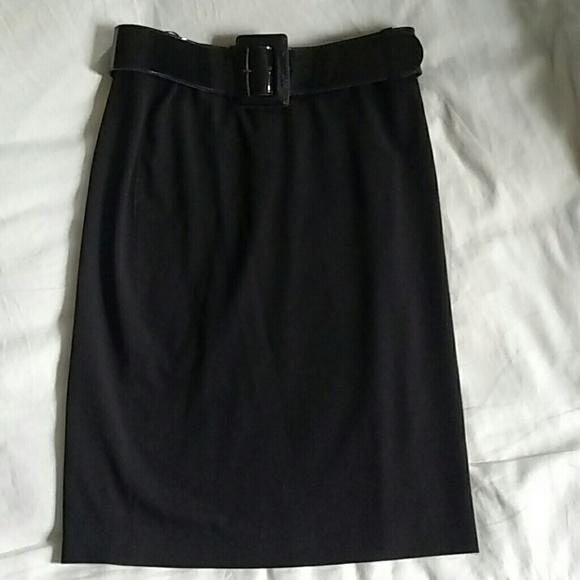Anne Klein Dresses & Skirts - Anne Klein belted black pencil skirt 8